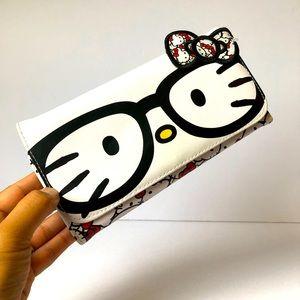 HELLO KITTY Sanrio tri-fold wallet nerdy EUC